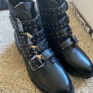 Brand new studded black boots